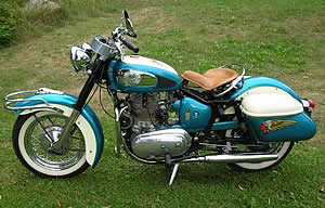 1959 Indian Chief Blue and white L side