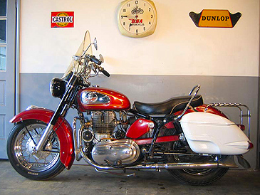 1960 Chief red L side from Michaels Motorcycles